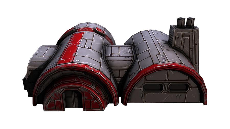 Barracks royalty-free 3d model - Preview no. 2