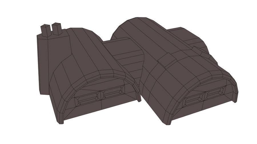 Barracks royalty-free 3d model - Preview no. 8