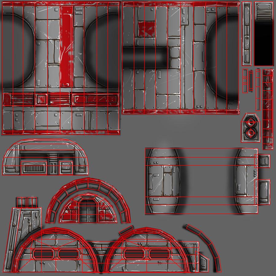 Barracks royalty-free 3d model - Preview no. 10