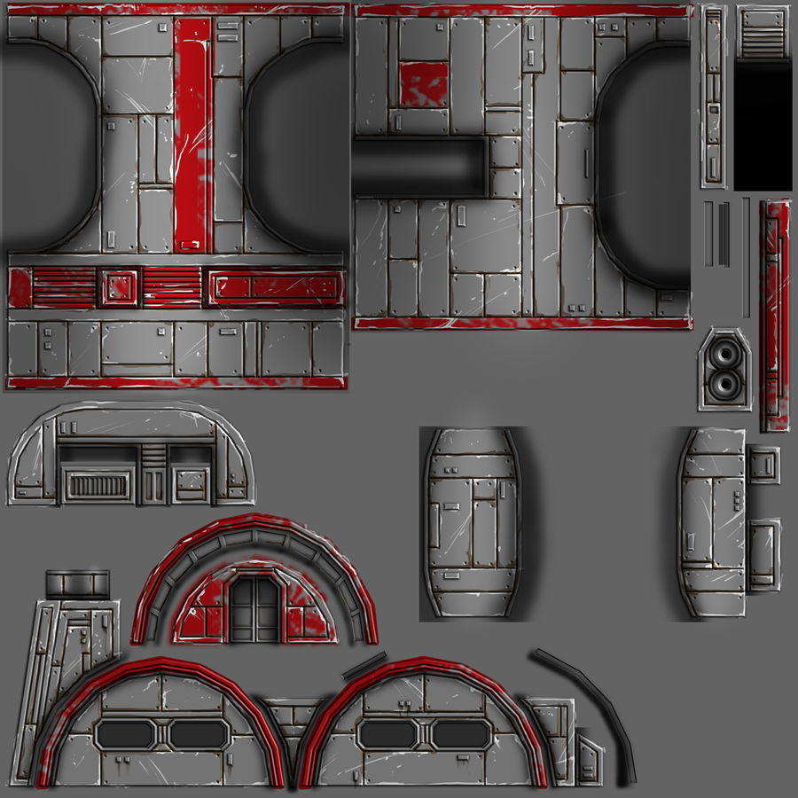 Barracks royalty-free 3d model - Preview no. 9