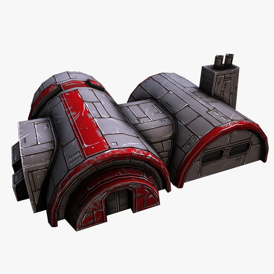 Barracks royalty-free 3d model - Preview no. 1
