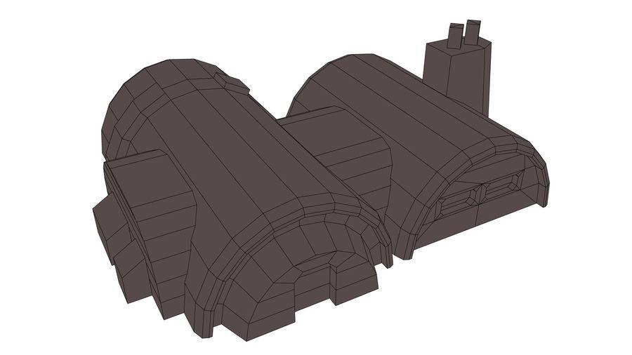 Barracks royalty-free 3d model - Preview no. 7