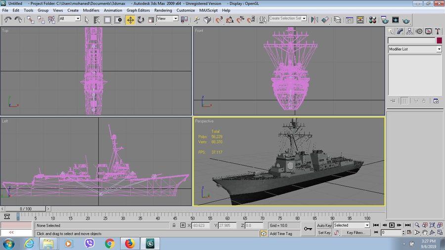 barco de batalla royalty-free modelo 3d - Preview no. 7