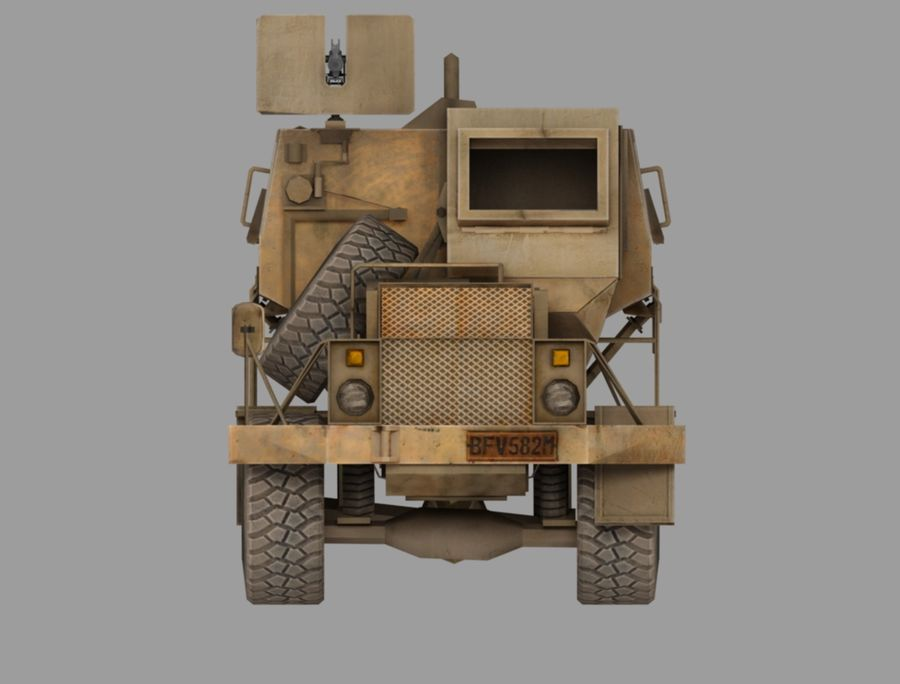 Camion buffel royalty-free 3d model - Preview no. 2