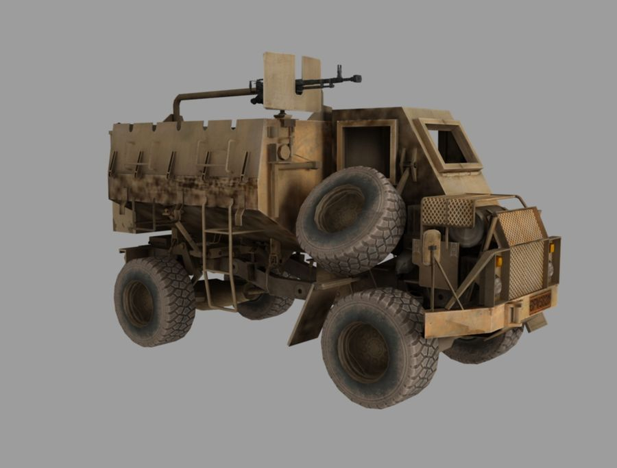Camion buffel royalty-free 3d model - Preview no. 3