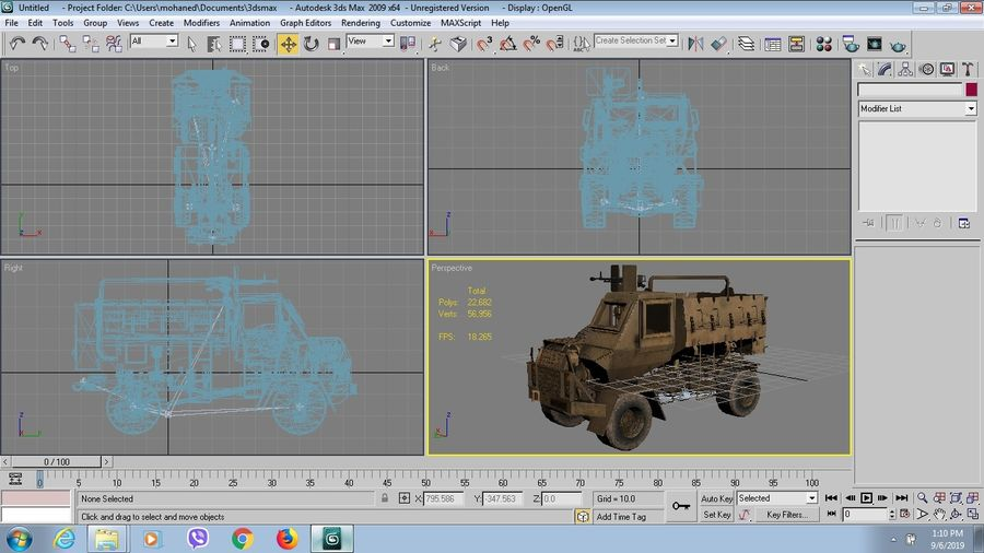 Camion buffel royalty-free 3d model - Preview no. 7
