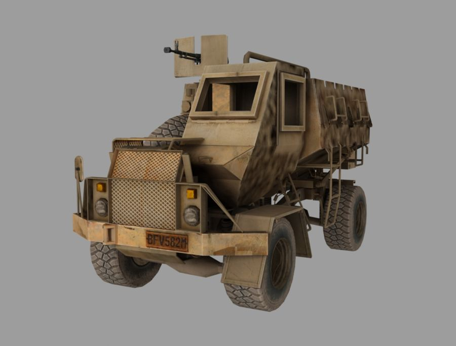 Camion buffel royalty-free 3d model - Preview no. 1