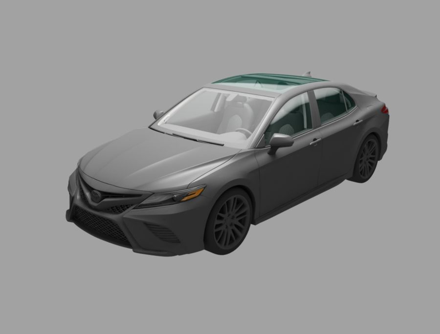 camry auto royalty-free 3d model - Preview no. 1