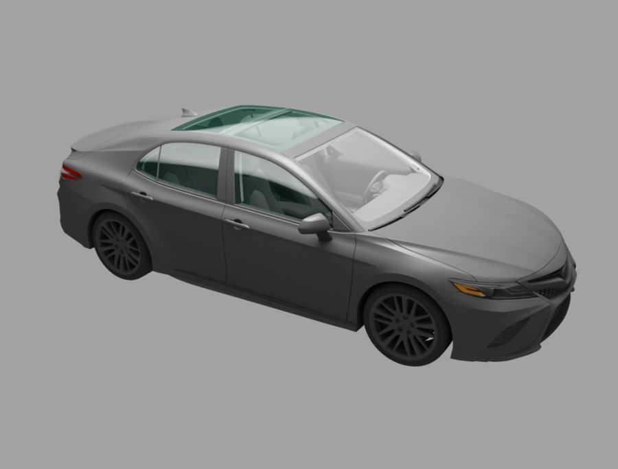 camry auto royalty-free 3d model - Preview no. 3