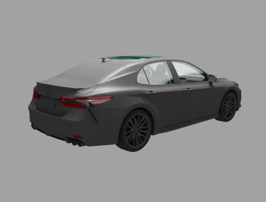 camry auto royalty-free 3d model - Preview no. 5