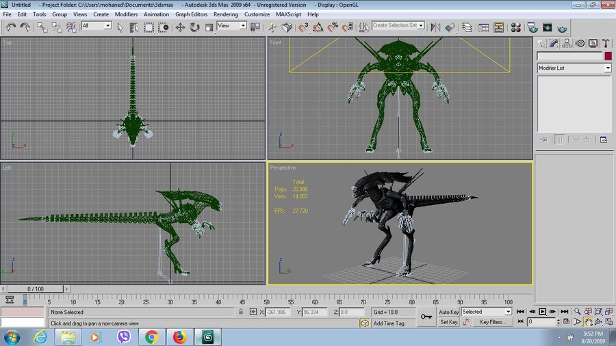 alien qween royalty-free 3d model - Preview no. 7