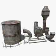 Pack Pipes Industrielles 3d model