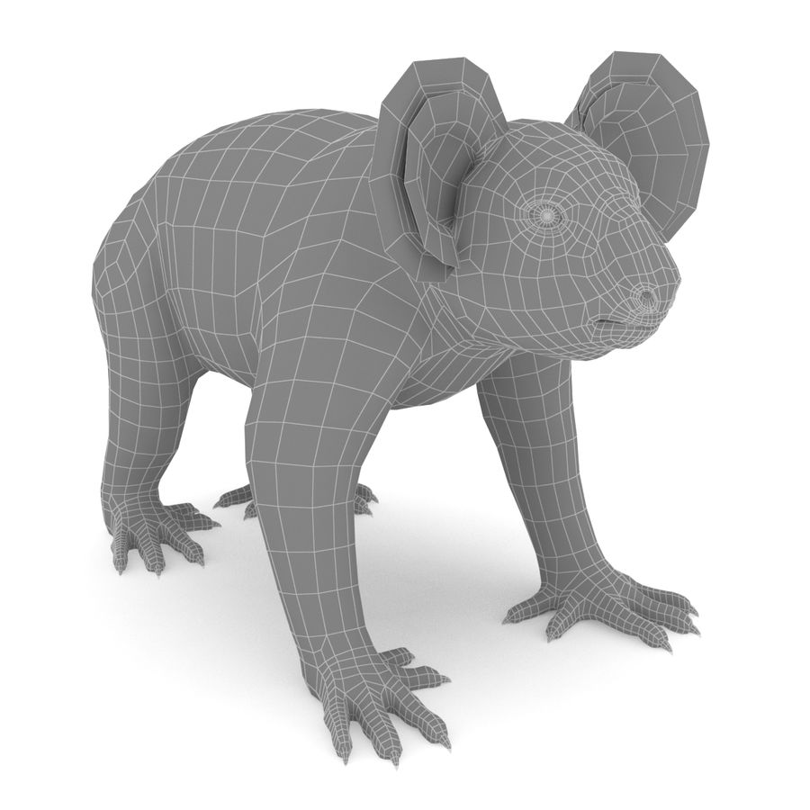 Koala royalty-free 3d model - Preview no. 5