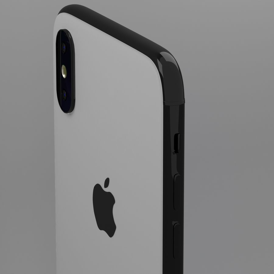 iPhone X royalty-free 3d model - Preview no. 4