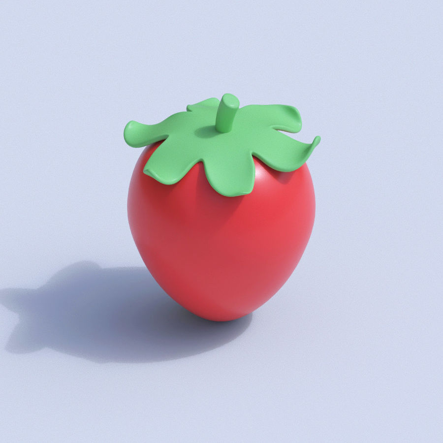Stylized Cartoon Fruit Collection royalty-free 3d model - Preview no. 18