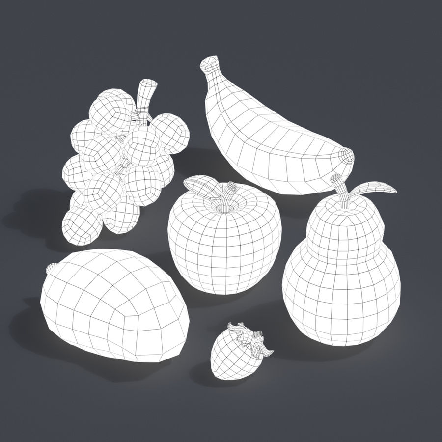 Stilisierte Cartoon-Frucht-Sammlung royalty-free 3d model - Preview no. 2