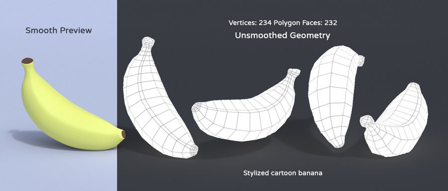 Stylized Cartoon Fruit Collection royalty-free 3d model - Preview no. 7