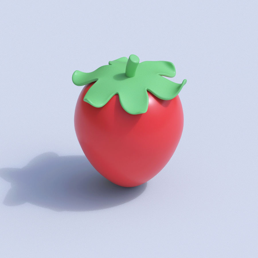 Stilisierte Cartoon-Frucht-Sammlung royalty-free 3d model - Preview no. 18
