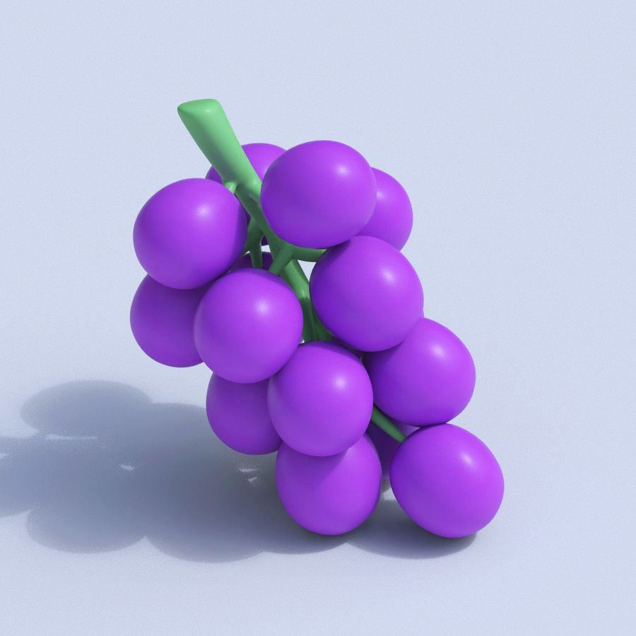 Stylized Cartoon Fruit Collection royalty-free 3d model - Preview no. 9