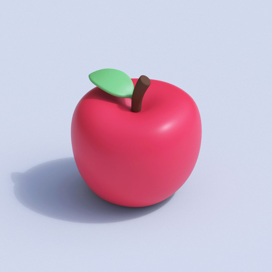 Stilisierte Cartoon-Frucht-Sammlung royalty-free 3d model - Preview no. 3
