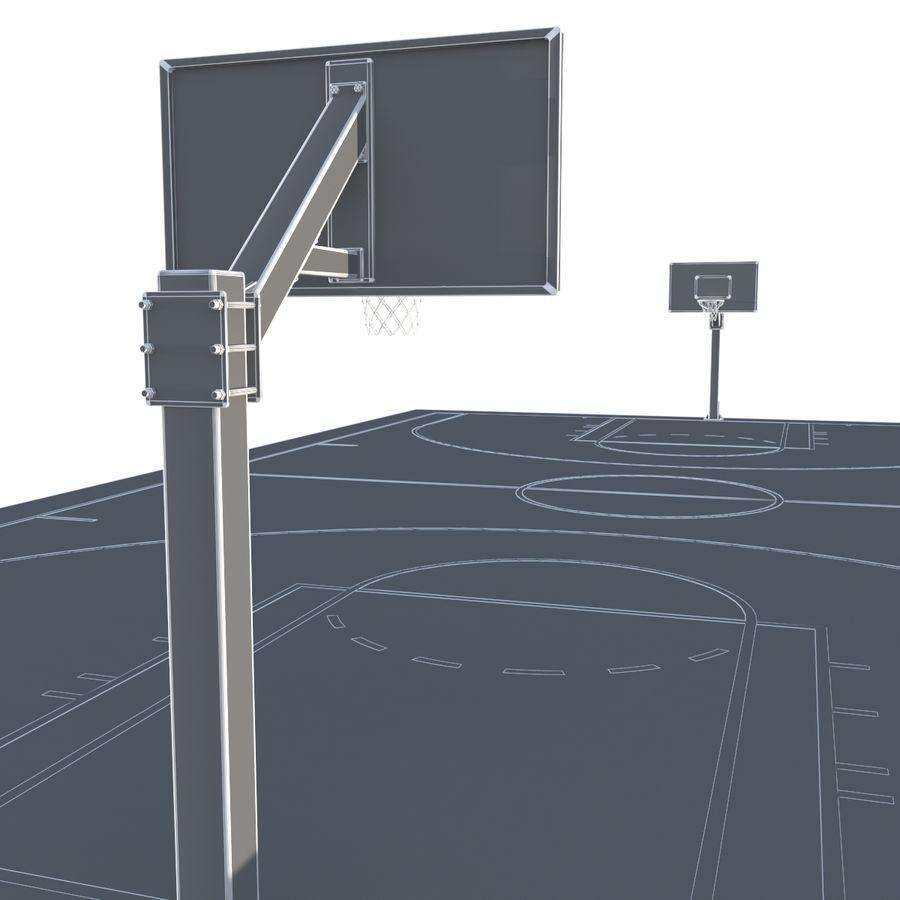 Boisko do koszykówki royalty-free 3d model - Preview no. 10