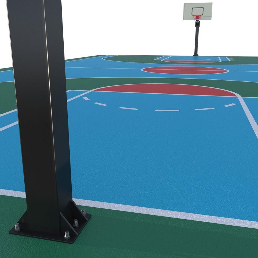Boisko do koszykówki royalty-free 3d model - Preview no. 2