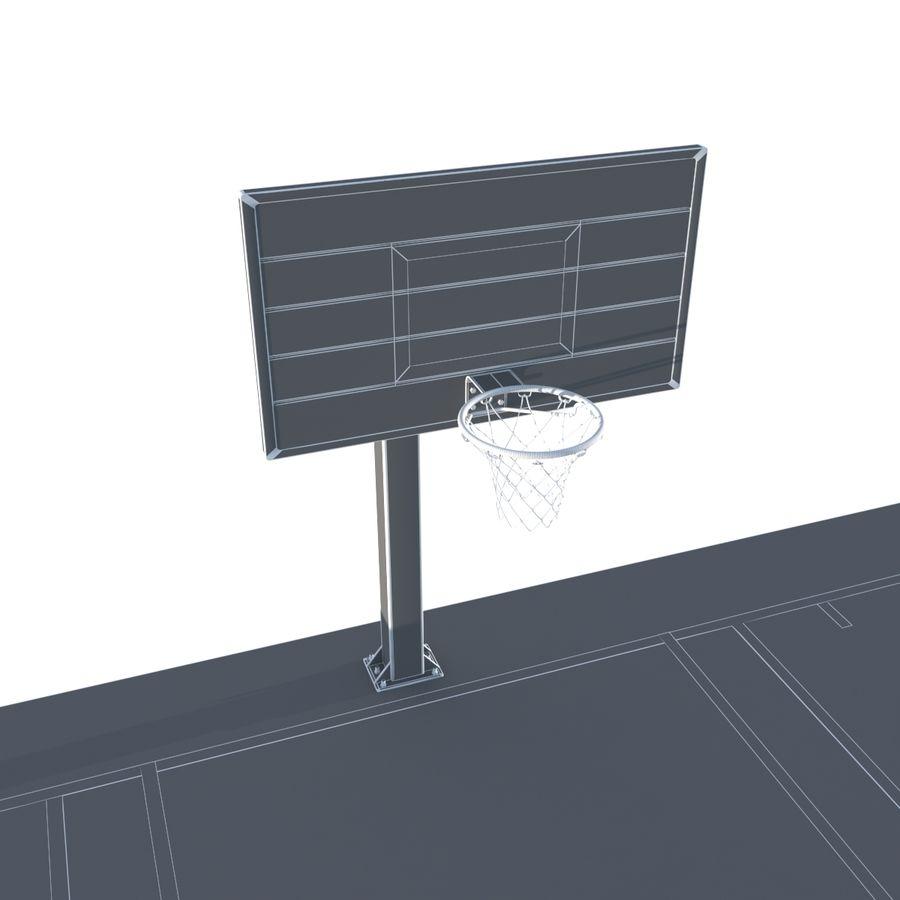 Boisko do koszykówki royalty-free 3d model - Preview no. 9