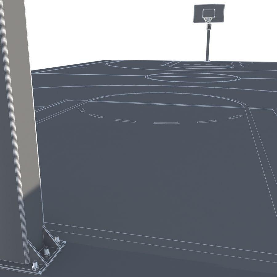 Boisko do koszykówki royalty-free 3d model - Preview no. 7