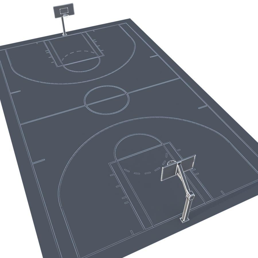 Boisko do koszykówki royalty-free 3d model - Preview no. 8