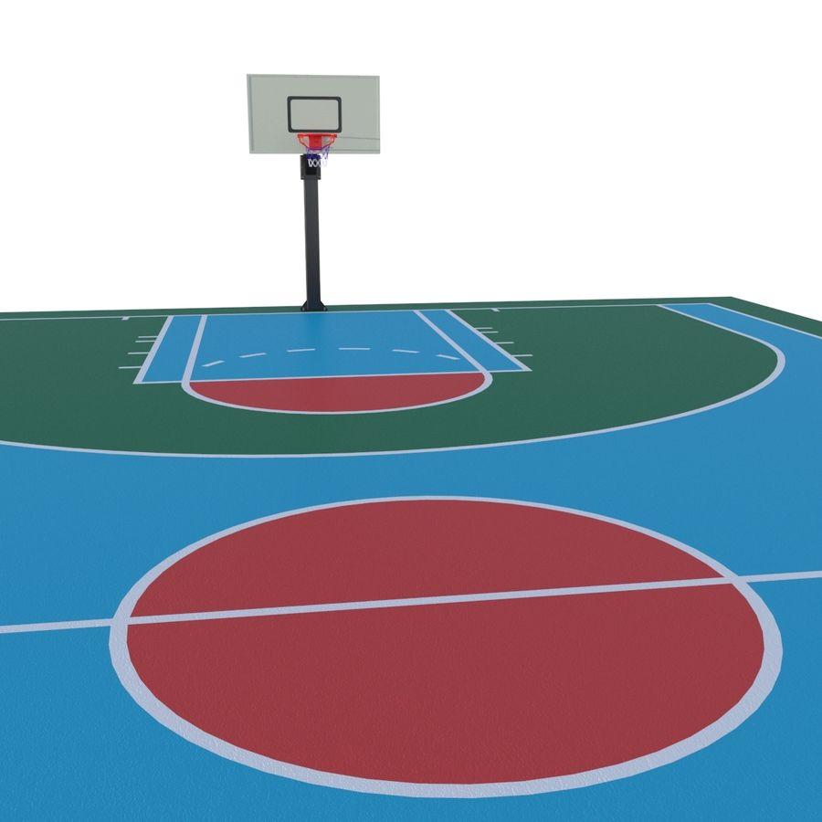 Boisko do koszykówki royalty-free 3d model - Preview no. 3