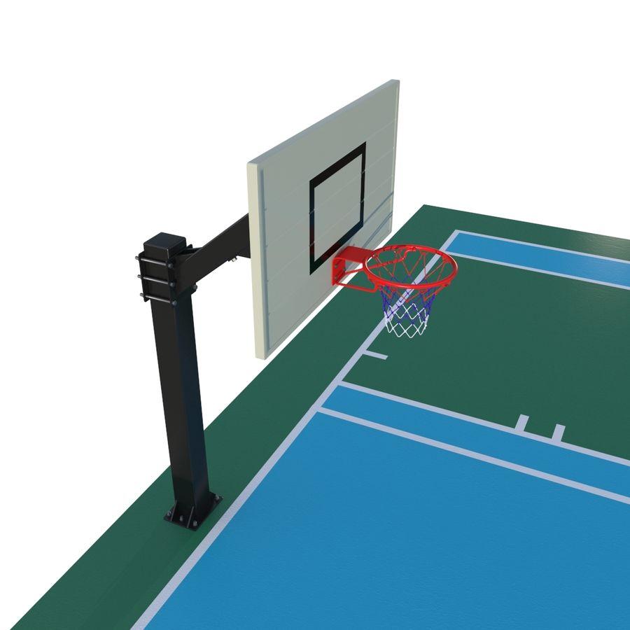 Boisko do koszykówki royalty-free 3d model - Preview no. 4