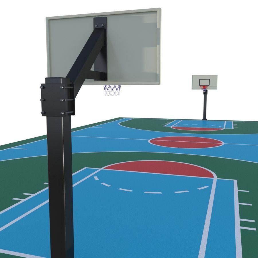 Boisko do koszykówki royalty-free 3d model - Preview no. 5
