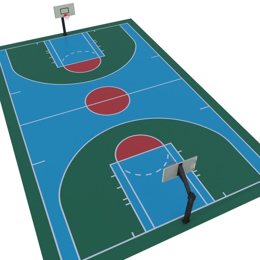 Boisko do koszykówki royalty-free 3d model - Preview no. 1
