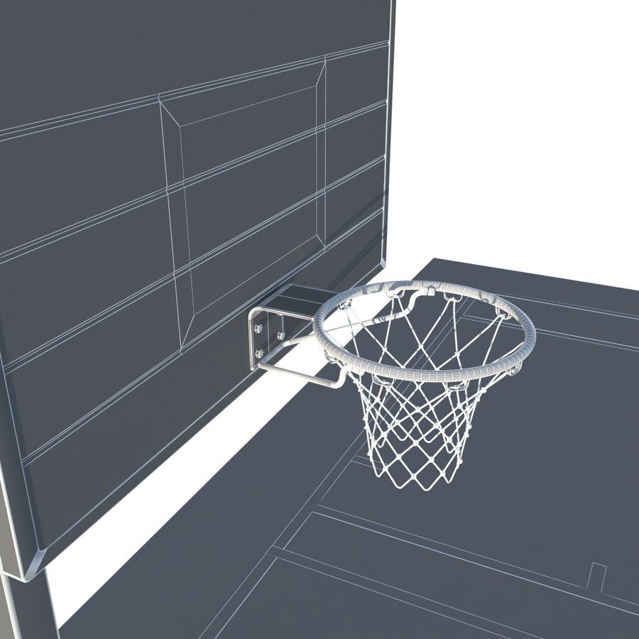 Boisko do koszykówki royalty-free 3d model - Preview no. 11