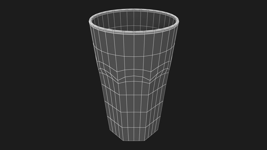 Glass Cup royalty-free 3d model - Preview no. 9