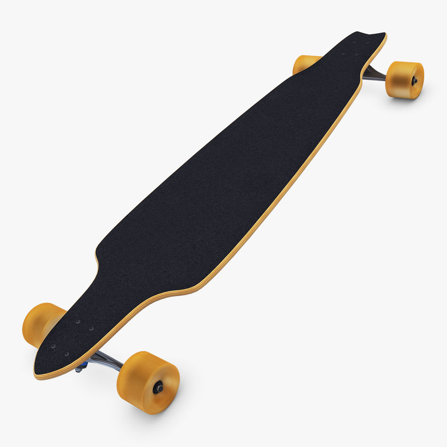 Generic Longboard 1 royalty-free 3d model - Preview no. 2