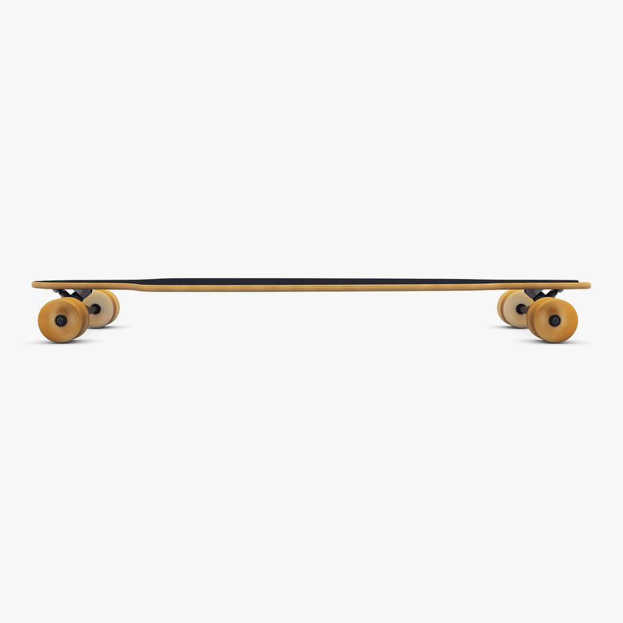 Generic Longboard 1 royalty-free 3d model - Preview no. 6