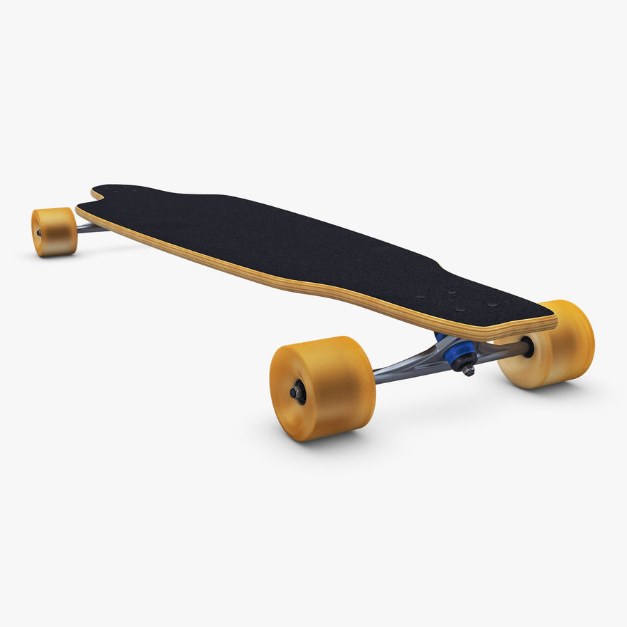 Generic Longboard 1 royalty-free 3d model - Preview no. 8