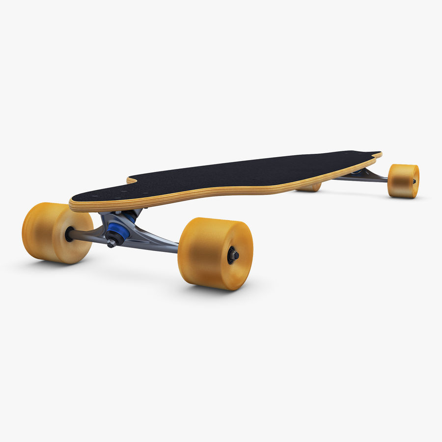 Generic Longboard 1 royalty-free 3d model - Preview no. 7