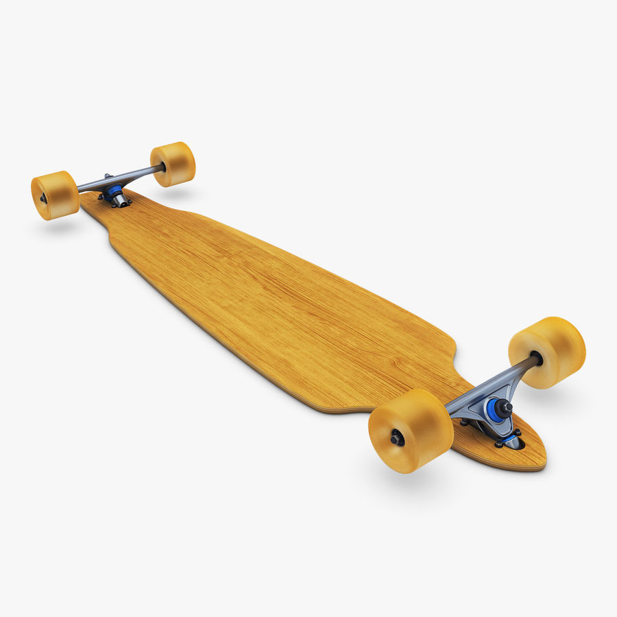 Generic Longboard 1 royalty-free 3d model - Preview no. 4