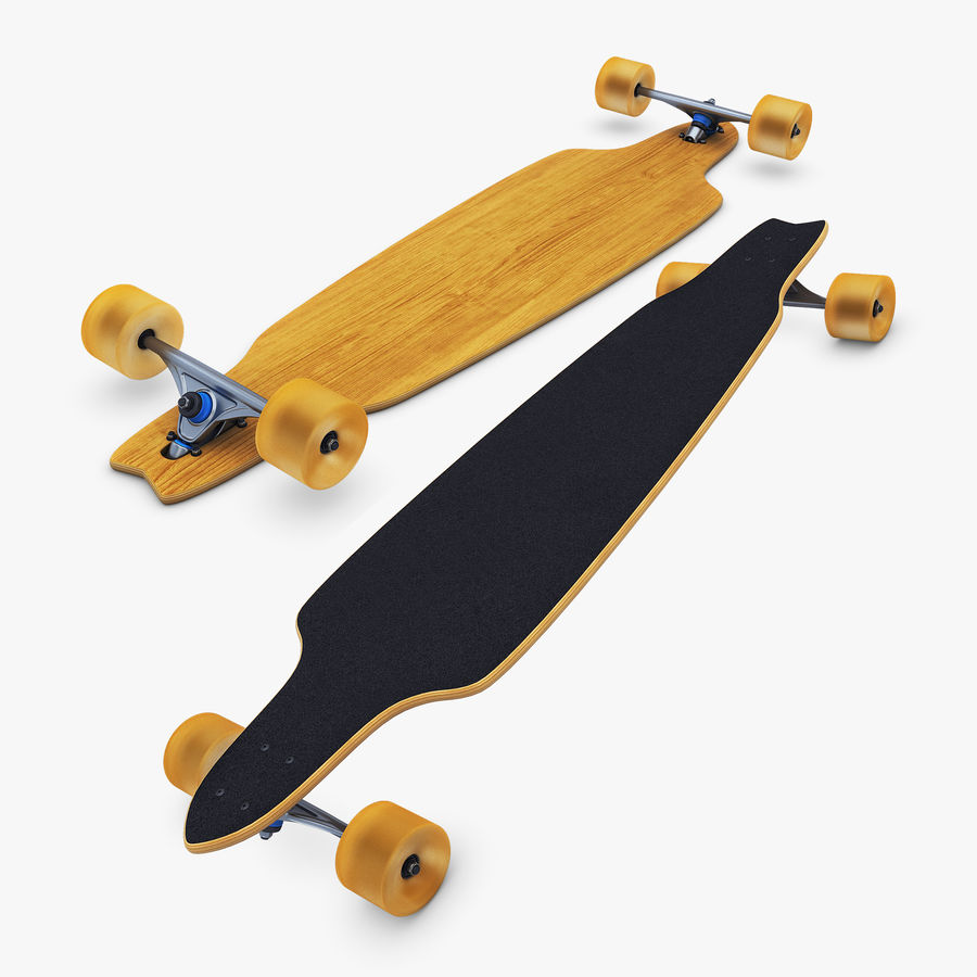 Generic Longboard 1 royalty-free 3d model - Preview no. 1