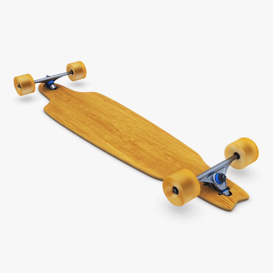 Generic Longboard 1 royalty-free 3d model - Preview no. 5