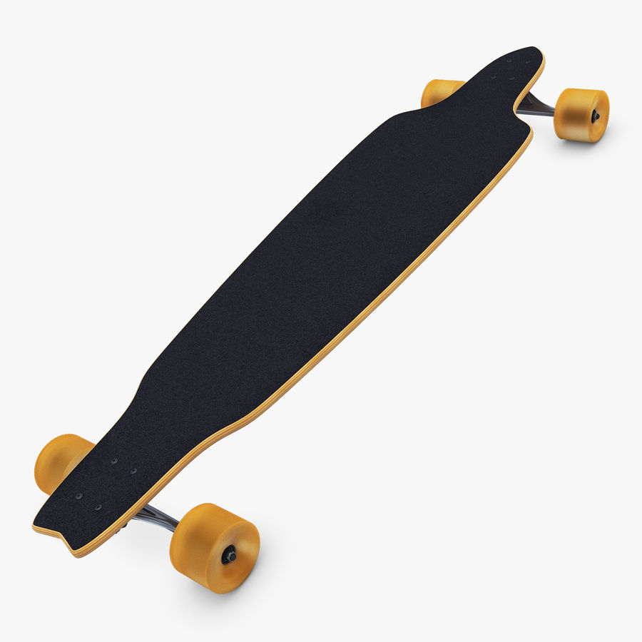 Generic Longboard 1 royalty-free 3d model - Preview no. 3