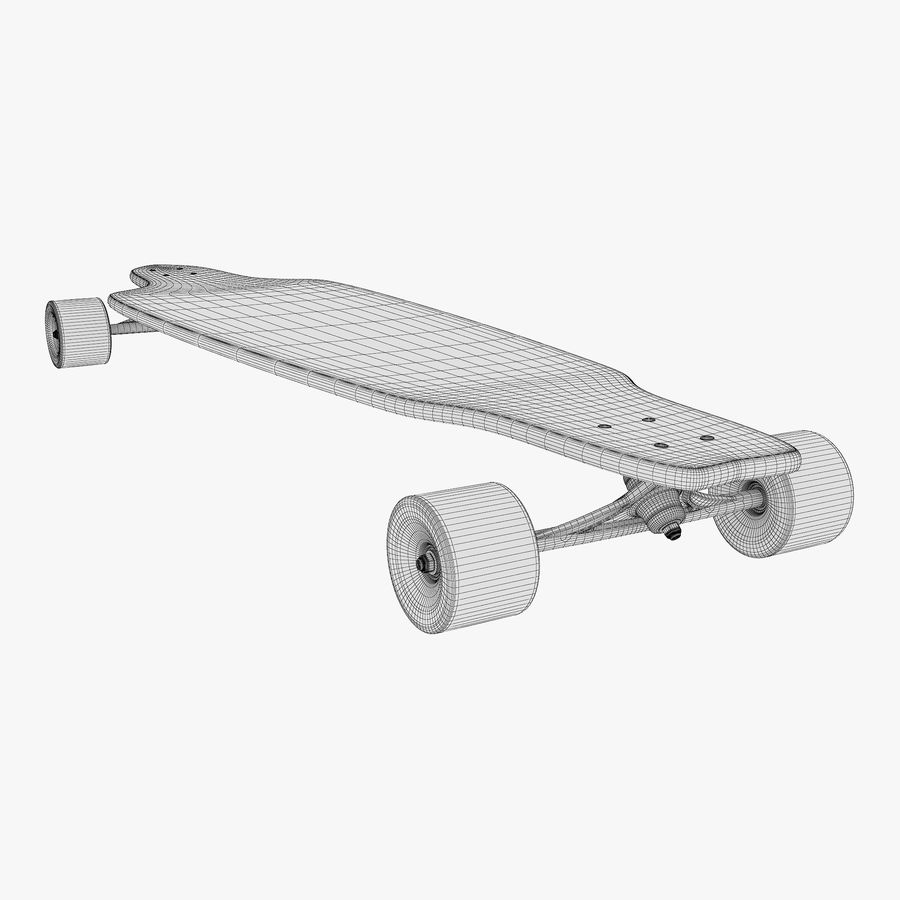 Generic Longboard 1 royalty-free 3d model - Preview no. 16