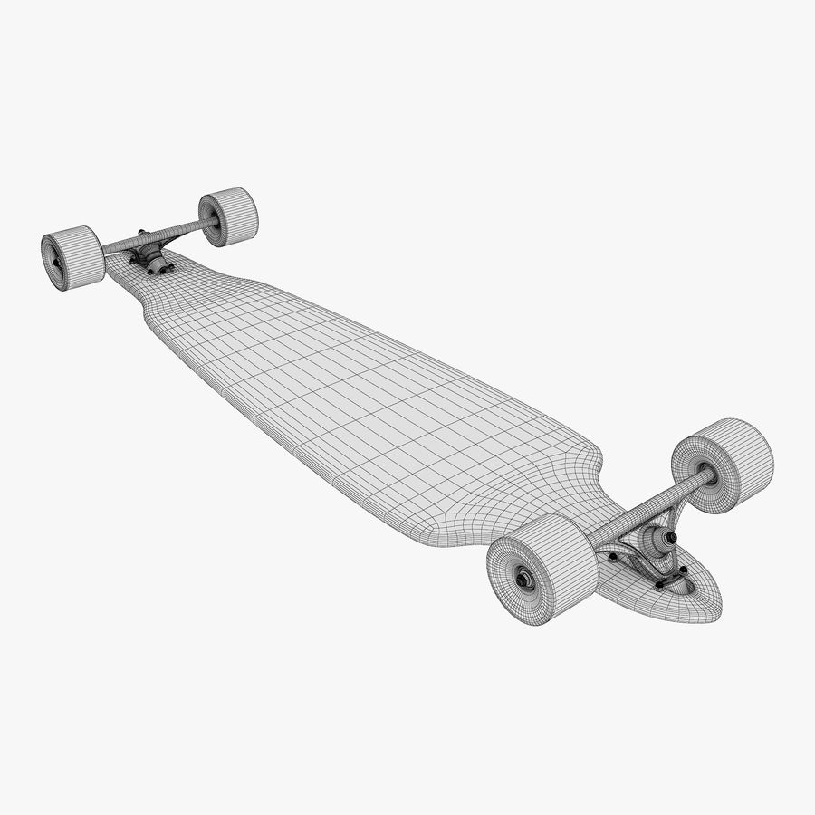 Generic Longboard 1 royalty-free 3d model - Preview no. 12