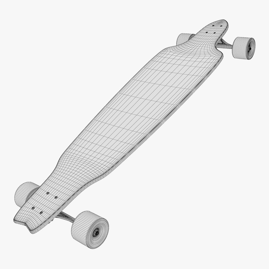 Generic Longboard 1 royalty-free 3d model - Preview no. 11