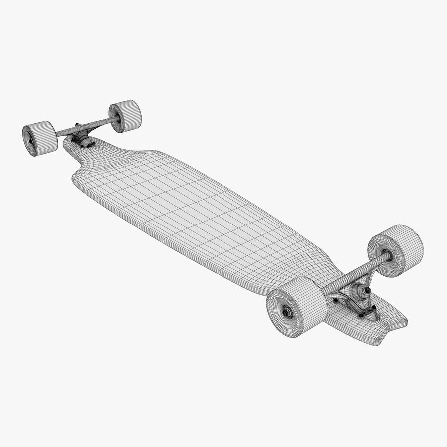 Generic Longboard 1 royalty-free 3d model - Preview no. 13