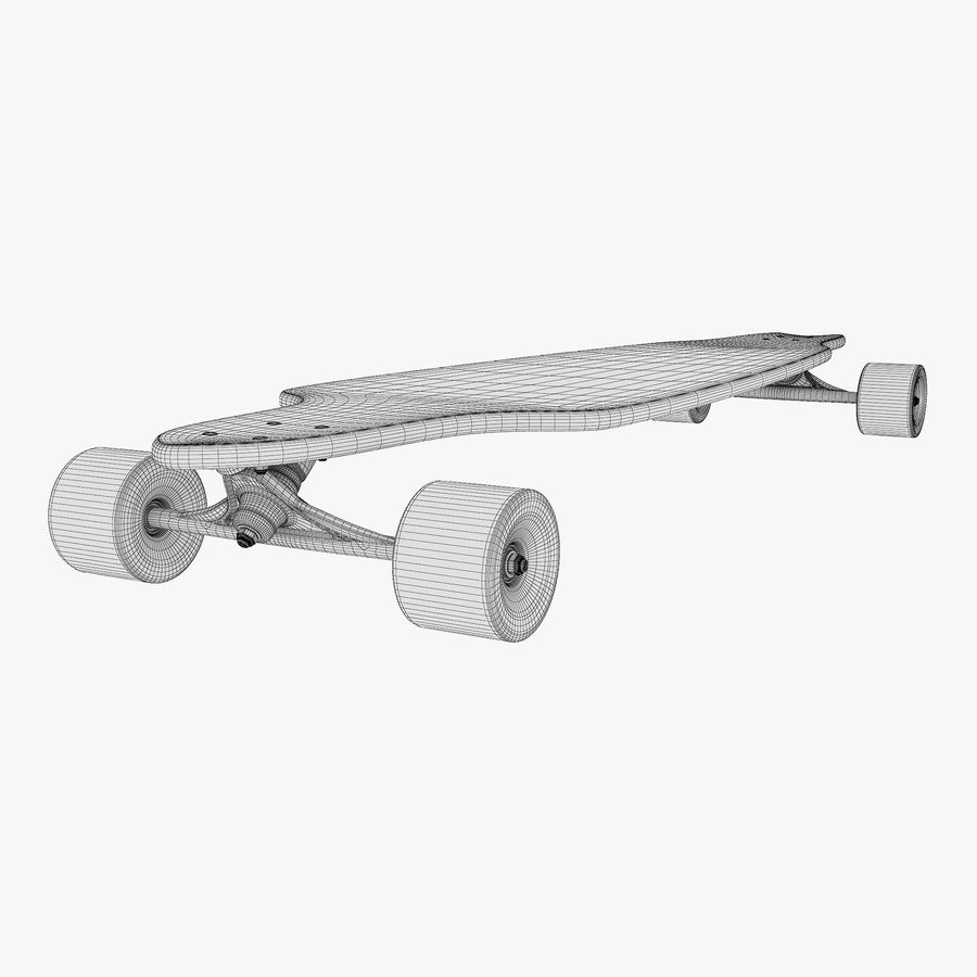 Generic Longboard 1 royalty-free 3d model - Preview no. 15