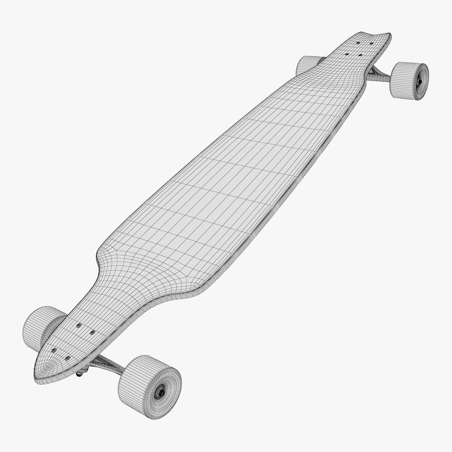Generic Longboard 1 royalty-free 3d model - Preview no. 10