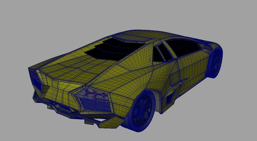 Sports car royalty-free 3d model - Preview no. 7